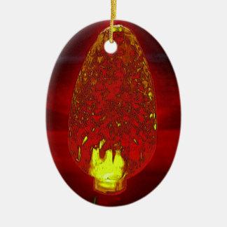 Lite féerique ornement ovale en céramique