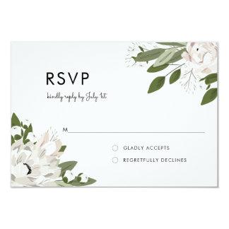 L'ivoire et rougit les brins de mariage - RSVP Carton D'invitation 8,89 Cm X 12,70 Cm