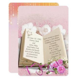 livre de mariage pour l'invitation de carton d'invitation  12,7 cm x 17,78 cm