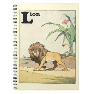 Livre de vagabondage d'histoire de lion