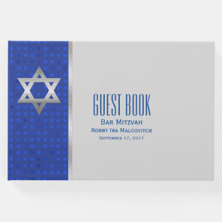 Livre d'invité argenté de Mitzvah de barre