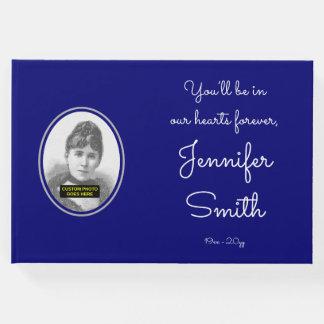 Livre d'invité commémoratif simple et triste