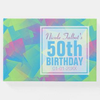 Livre d'invité d'anniversaire de pastel abstrait