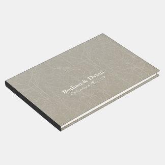"""Livre d'invité de """"arbre"""" d'huître/vison"""