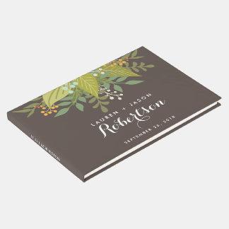 Livre d'invité de mariage, Boho floral, mariage de