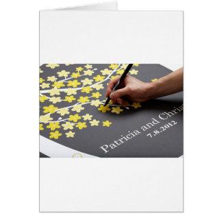 Livre d'invité de mariage carte de vœux