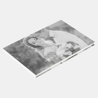 Livre d'invité de mariage de photo - recouvrement