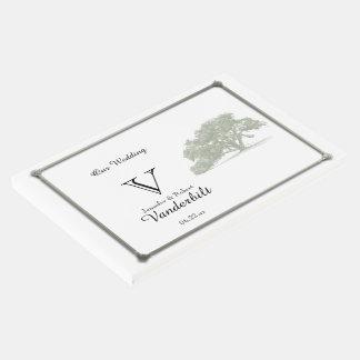 Livre d'invité de mariage de plantation de chêne