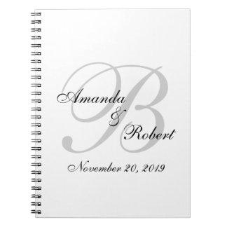 Livre d'invité fait sur commande de mariage de carnet à spirale