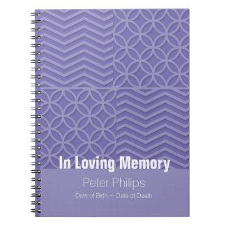 Livre d'invité funèbre géométrique de 2 cérémonies
