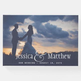 Livre d'invité moderne de mariage de photo