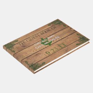 Livre d'invité rustique de mariage de Claddagh de