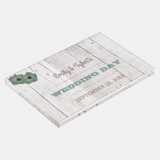 Livre d'invité turquoise de mariage de lait de