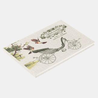 Livre d'invité vintage de mariage de conception