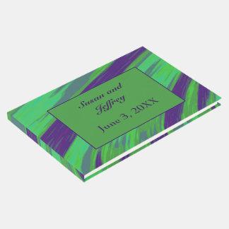 Livre D'or Abrégé sur vert-bleu bruissement de couleur