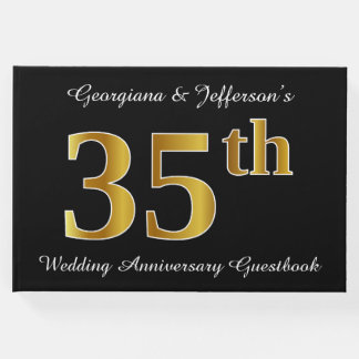 Livre D'or Anniversaire de mariage de regard d'or de Faux