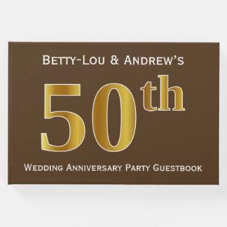Livre D'or Brown, fête d'anniversaire de mariage d'or