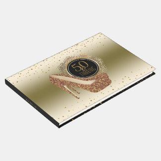 Livre D'or Cinquantième anniversaire élégant | 50 et or noir