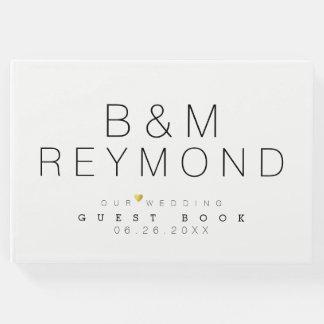 Livre D'or élégant blanc minimaliste moderne