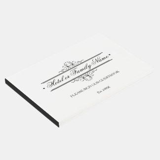 Livre D'or Famille personnalisée noire et blanche élégante