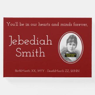 Livre D'or Guestbook commémoratif minimal et personnalisé