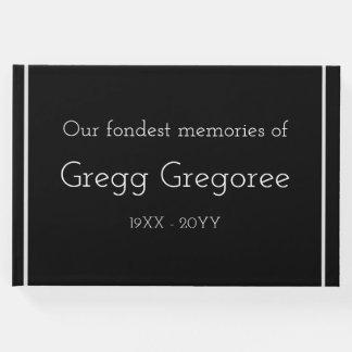 Livre D'or Guestbook commémoratif triste et personnalisé