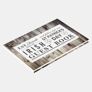 Livre D'or Le jour vintage de St Patrick en bois irlandais