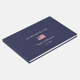Livre D'or Les Etats-Unis commémoratifs élégants marquent le