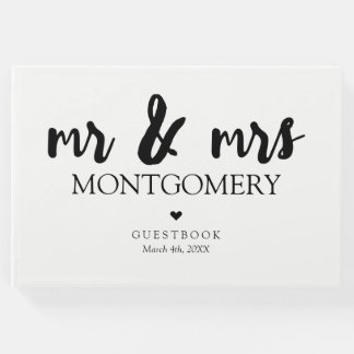 Livre D'or M. et Mme noirs et blancs Calligraphy
