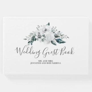 Livre D'or Mariage floral blanc