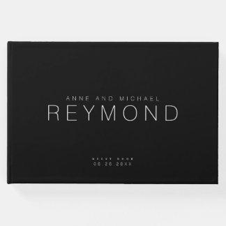 Livre D'or mariage noir minimaliste moderne