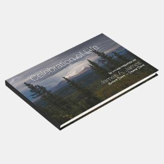 Livre D'or Mémorial lumineux de photographie de montagnes