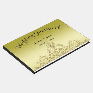 Livre D'or Or élégant et chic et mariage noir