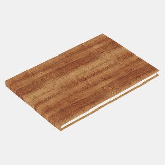 Livre D'or Regard du bois de grain d'acacia bouclé de Koa
