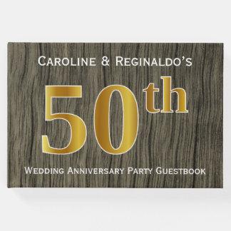 Livre D'or Rustique, fête d'anniversaire de mariage d'or