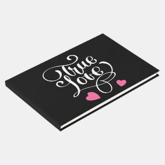 Livre D'or Véritables coeurs de rose d'amour de mariage noir