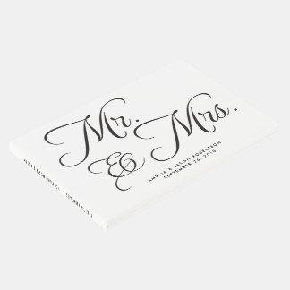 Livre, M. et Mme d'invité de mariage, noirs et Livre D'or
