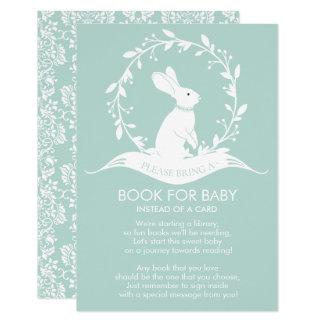 Livre neutre de baby shower de lapin pour la carte