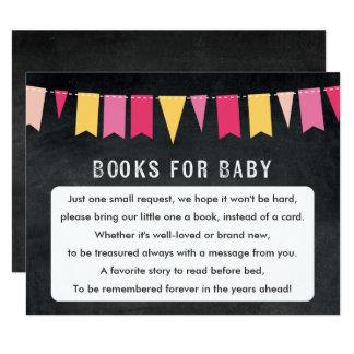 Livres pour la carte de jeu de baby shower de