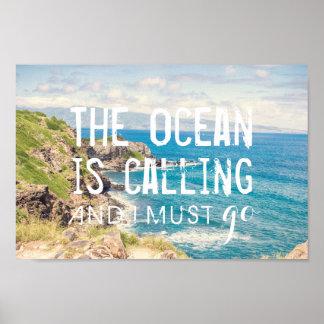 L'océan appelle - affiche de la côte | de Maui