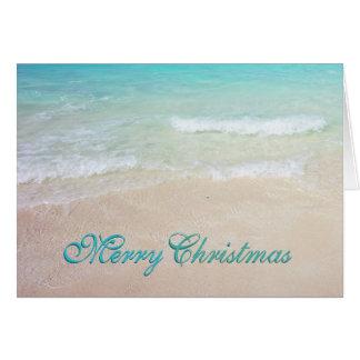 L'océan bleu tropical échoue des cartes de Noël