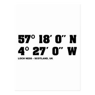 Loch Ness - coordonne la conception Carte Postale