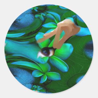 L'oeil a sélectionné le produit de fleurs autocollants ronds
