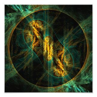 L'oeil de la copie de photo d'art abstrait de jung