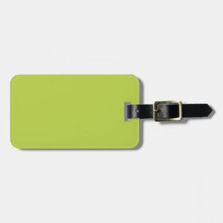 L'offre de solide tire le vert étiquette pour bagages