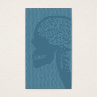 logicskull bleu cartes de visite