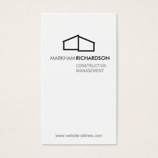 Logo à la maison moderne pour la construction, cartes de visite
