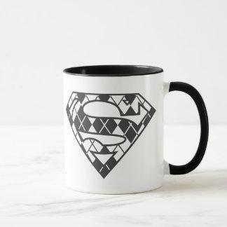 Logo à motifs de losanges noir de Supergirl Mug