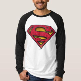 Logo affligé par   de S-Bouclier de Superman T-shirt