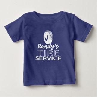 Logo blanc du service | de pneu du T-shirt | Randy